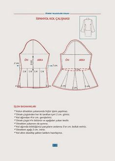 Sewing totarial and dress pattern Diy Clothes Patterns, Skirt Patterns Sewing, Coat Patterns, Blouse Patterns, Sewing Lessons, Sewing Hacks, Pattern Cutting, Pattern Making, Sewing Sleeves