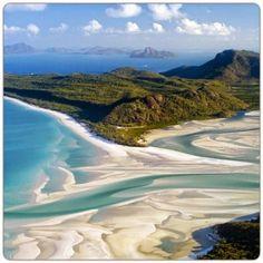 Me voy a pegar un baño en... Whitehaven beach, en Airlie beach, Australia. *PrimerasNecesidades*