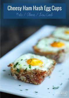 Cheesy Ham Hash Egg Cups - Low Carb & Keto | I Breathe I'm Hungry