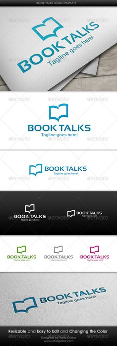 Book Talks  - Logo Design Template Vector #logotype Download it here: http://graphicriver.net/item/book-talks-logo-template/3205066?s_rank=74?ref=nexion