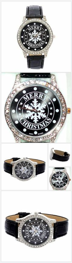 Merry Christmas Snowflake Watch Austrian Crystal USA Seller Christmas In July #ebay http://stores.ebay.com/JEWELRY-AND-GIFTS-BY-ALICE-AND-ANN