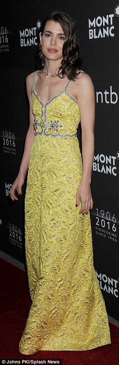 Perfect princess: Charlotte Casiraghi, the granddaughter of the late Princess Grace of Mon...