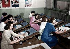 Painting WWII Propaganda Posters, Port Washington, New York – 8 July 1942