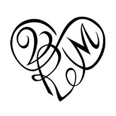 Mdj with a heart tattoo design black white ink with my initials or vrm infinity heart tattoo altavistaventures Gallery