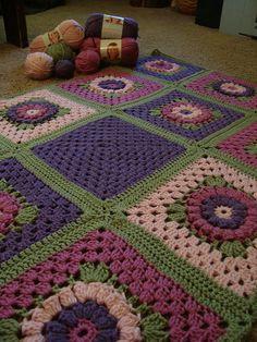 Gerbera Daisy Afghan - free pattern