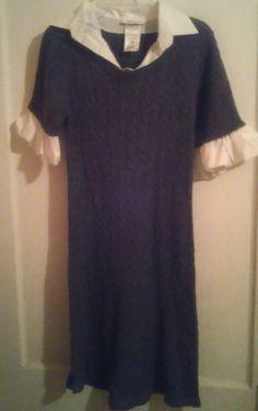 Bonnie Jean Gray Sweate Dress Girls Size 14 Gray Sweater Dress Bonnie Jean Dress #BonnieJean