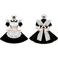 Free Shipping Sexy Sissy Maid Pvc Dress Lockable Uniform Cosplay Costume Tailor-made