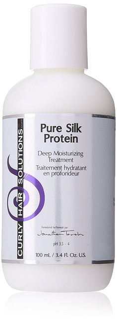 Curly Hair Solutions Travel Size Pure Silk Protein, 3.4 Ounce >>> Click image for more details.