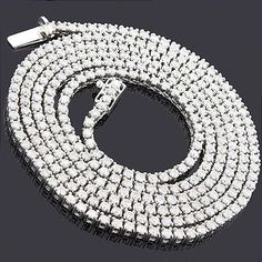 360796b74c52 Round Diamond Tennis Necklace Chain 14K 14.06ct