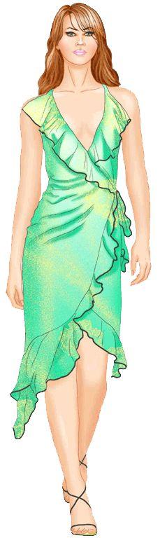 free pattern size S-XL - preview - #5532 Short dress
