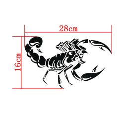 car-styling 3D Car Stickers For AUTO Motorcycle Ferocious Scorpion Pattern 28cm Stickers For bmw vw ford toyota kia opel renault