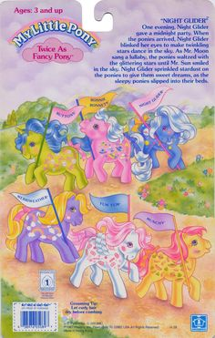 My Little Pony Twice as Fancy Pony Night Glider backcard ...