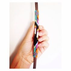 Beaded Over Under Leather Whip Feather Pattern by HUSTLEandHOME