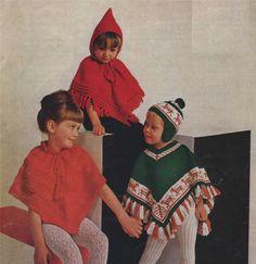 PDF Baby and Girl's Poncho / Phonchitos & Hat Knitting Pattern : Peruvian…