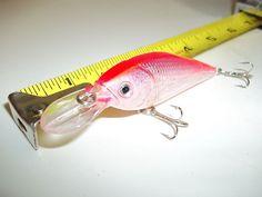 "Silver pink 3.5"" Shallow Nose Bass Striper Walleye Pike Rattle Head 0.5 oz.China"