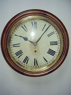 Double your traffic. An antique wall clock by the American manufacturer Ansonia. The clock dates roughly 1870, it is in working order(nice tick) The mahogany case is in quite good shape for age, the