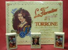My Nana always bought us Torrone candy. Pretty much styrofoam with almonds, but the boxes were cool!