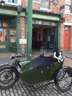 An old motorbike at Beamish Birmingham Cathedral, Durham