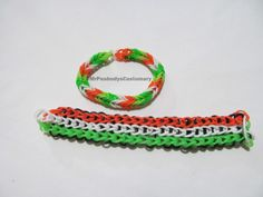 Triple Single Rainbow Loom bracelet. Irish for me since St. Patrick's day is around the corner! I have about 10 of these bad boys!! @MrPeabodysCustomary facebook.com/MrsCustomary