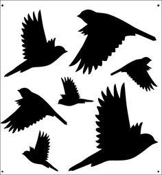 Sparrows stencil from The Stencil Library online catalogue. Buy stencils online. Stencil code SIB34.