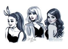 This is so beautiful! My top 3 favourite young female artists - Taylor Swift, Ariana Grande and Selena Gomez *also demonstrates my love for art
