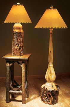 Rustic Aspen Log Lamps  |  Wild Wings