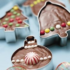 Cookie cutter fudge. Good gift for teachers to help them get through that last day before break!