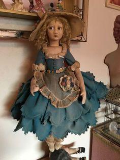 24-дюймовый-Lenci-будуар-Кукла-примерно 1920-х годов