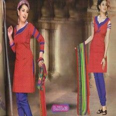 Casual Red & Blue Pajami Suit from http://www.ezeetoshop.com