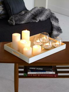 Add warmth to your coffee table this Autumn and Winter with - Oscar tray, Casa candles, Casablanca tumblers  Oasis Homewares https://www.facebook.com/HelenroseDesigns