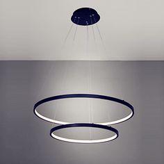 60cm Three Rings Modern LED Pendant Light Fixtures For Dinning Room Hanging Indoor Lighting Lamp Lights Lampara Colgante #Affiliate