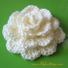 Large Crochet Rose Pattern Free : Crocheted flowers and things on Pinterest Crochet ...