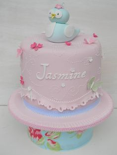 cakes for christening for girls | Just call me Martha: Spring birdy Christening cupcakes and cake