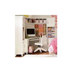 PBteen | Hampton Corner Desk, Hutch & Set ($599) ❤ liked on Polyvore
