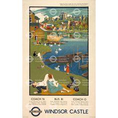 Windsor Castle - Adrian Allinson (1934)