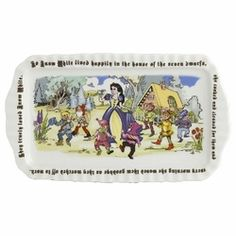 Paul Cardew Snow White Tray 12 x 6.    Made of fine porcelain and is microwave and dishwasher safe.