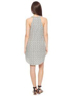 very amusing Zebra Print Zip Dress by Splendid (featuring whole zebras in the pattern)