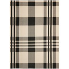 You'll love the Courtyard Black/Bone Indoor/Outdoor Rug at Wayfair - Great Deals on all Décor products with Free Shipping on most stuff, even the big stuff.