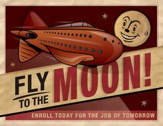 Fly to the Moon.    #future #travel #space #adventure