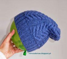 ♥ Mimos de Mãe ♥: Gorro azul tranças - Coleção 2013/2014