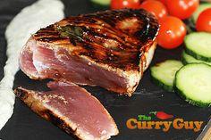 Goan Seared Tuna Steaks with a Tamarind Crust and Yogurt Dressing