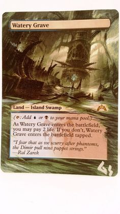 MTG Altered Art Watery Grave Hand Painted Full Art OOAK Magic Card Glendora #WizardsoftheCoast  Hot  :~)