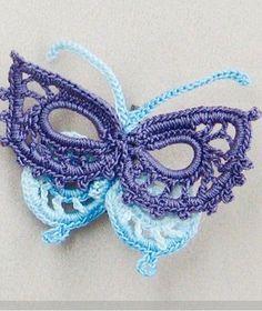 The collection needle women - crochet butterfly. Scheme knitting crochet butterfly.