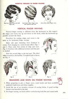 Vintage Finger Waving Instructional/// never underestimate a good finger wave!