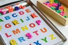 Create a preschool learning activities binder with free printables for letters and shapes. (ad)