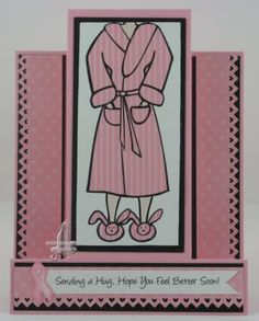 Cat's Ink.Corporated: Sending A Hug - Just Add Ink #74 - Fancy Fold Card