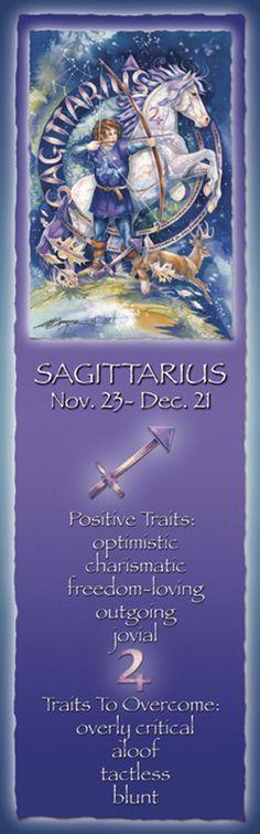 Bergsma Gallery Press::Products::Bookmarks::Zodiac::Zodiac Series / Sagittarius - Bookmark