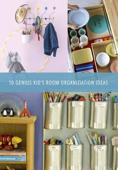 Kid's rooms are usually the most disorganized rooms of the house. Toys everywhere, broken crayons underfoot. Here are some great organization tips and ideas for your kiddos room that you both will love! #organize #tips  #storage