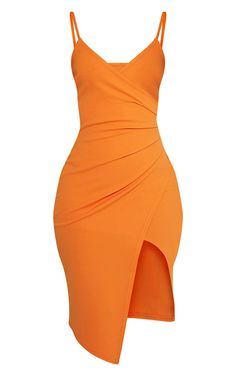 252a1d691f5 Camel Wide Ribbed High Neck Mini Dress ( 7.24) ❤ liked on Polyvore  featuring dresses