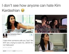 I love Kim so much she's the best and I don't even know why people hates her Funny Pins, Stupid Funny Memes, Funny Facts, Funny Tweets, Hilarious, Funny Stuff, Funniest Memes, Kardashian Memes, Funny Memes